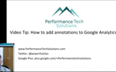 Adding annotations to google anayltics