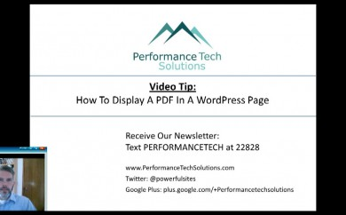 Video Demonstration on how to add a PDF to a WordPress Page or Blog