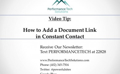 How to add a document link in Constant Contact