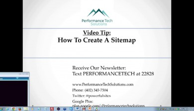 A video on how to create a sitemap