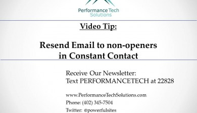 How to Resend Email to non-openers in Constant Contact