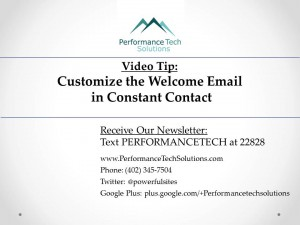 Learn how to customize the welcome email in Constant Contact